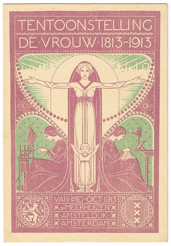 postcard_exhibition_de_vrouw_1813-1913